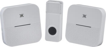 White Wireless Plug in Dual Receiver Door Chime  - DC015