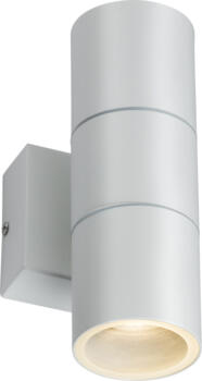 White IP54 GU10 Up and Down Wall Light  - OWALL2W