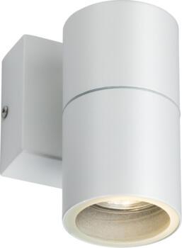 White IP54 GU10 Fixed single wall Light - OWALL1W