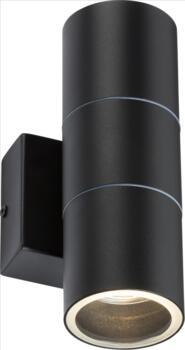 Matt Black IP54 GU10 Up and Down Wall Light  - OWALL2BK