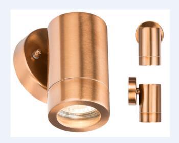 Copper IP65 GU10 Fixed Wall Light  - WALL1LC