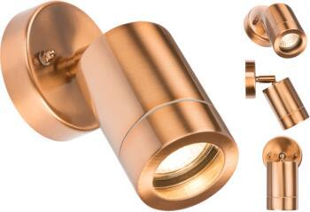 Copper IP65 GU10 Adjustable Wall Light  - WALL3LC