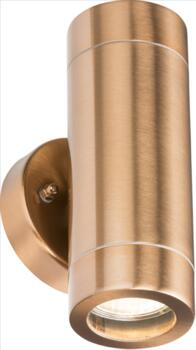 Copper IP65 GU10 Fixed Up & Down Wall Light  - WALL2LC