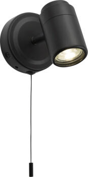 Matt Black Single Wall Spotlight  GU10 IP44 - BA03S1MB