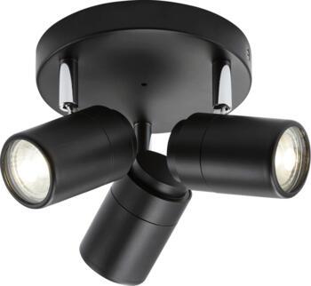 Matt Black GU10 Triple Spotlight IP44 - BA03P3MB