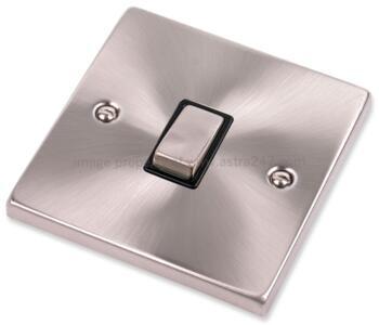 Satin Chrome 20A DP Switch - No Flex Out Ingot - With Black Interior