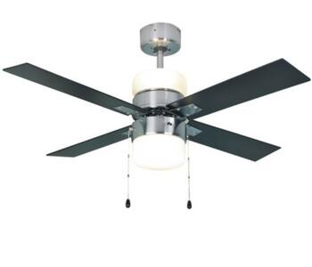 """Global Duo Ceiling Fan with Light - Chrome - 42"""" (1070mm)"""