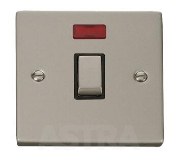 Pearl Nickel 20A DP Switch/Neon No Flex Ingot - With Black Interior