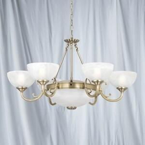 Windsor Ceiling Light - 8 Light 3778-8AB - Antique Brass