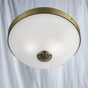 Windsor Ceiling Light - 2 Light Flush 5772-2AB - Antique Brass