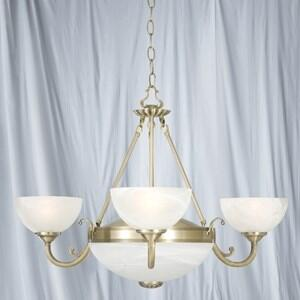 Windsor Ceiling Light - 5 Light 3775-5AB - Antique Brass