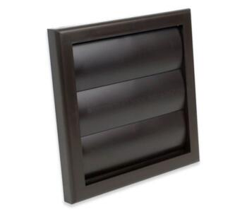 """4"""" Inch Gravity Fan Vent Grille - Brown Finish"""