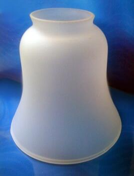 Ceiling Fan Shade - Frosted Glass Bell Shape - Frosted D&C Glass