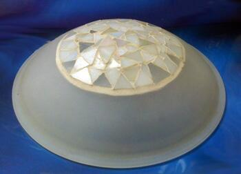 Ceiling Fan Shade - Mosaic Glass Shade - Mosaic Frosted Glass Shade