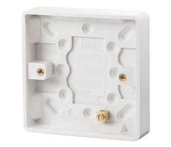 16mm 1 Gang Moulded Pattress Box - Single Backbox