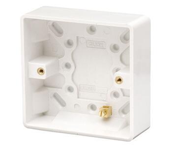 25mm 1 Gang Moulded Pattress Box - Single Backbox