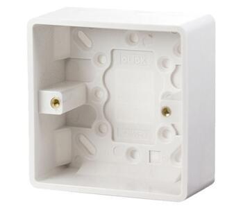 35mm 1 Gang Single Moulded Pattress Box - Single Backbox