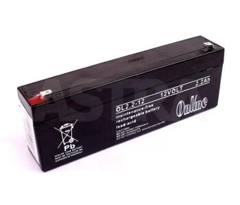12V Rechargeable Battery for use with Alarms - Black