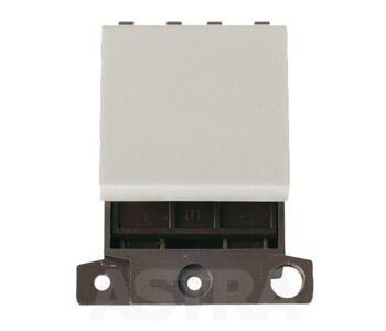 Mini Grid 'Ingot' 32A DP Blank Switch Module Twin -  Black Nickel