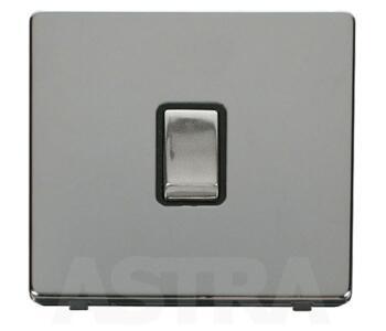 Screwless Chrome Ingot 20A DP Switch No Flex Out - With Black Interior
