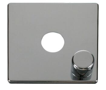 Screwless Chrome Dimmer Switch Single 1 Gang - 400W