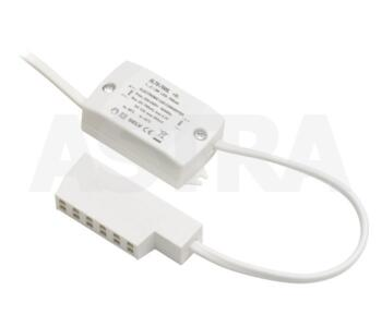 LED Driver 12V - 6 Way Amp Socket - DRV12-6W-AMP6 - White