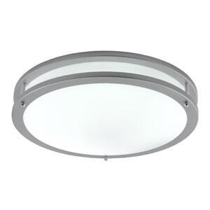 LED Flush Ceiling Light - Single Light 2119-40-LED - Grey - Warm White LED 3000K