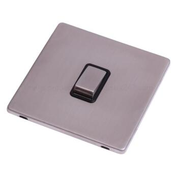 Screwless Stainless Steel 20A DP Switch No FlexOut - With Black Interior