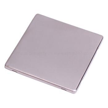 Screwless Stainless Steel Blank Plate Single 1Gang - With Black Plate Insert
