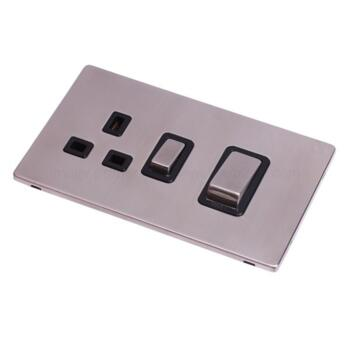 Screwless Stainless Steel Cooker Control 45A Ingot - With Black Interior