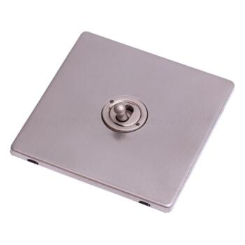 Screwless S'less Steel Light Switch Single Toggle - Pearl Nickel Toggle with Stainless Steel Plate