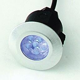 LED Deck Lights - 5 Head Round Deck Kit White LED - White LED - 5 Head Kit