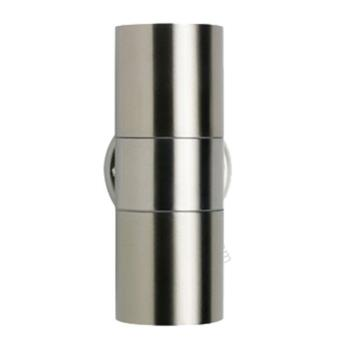 Stainless Steel Up/Down GU10 Wall Light - IP65 Outdoor 50W - Stainless Steel Finish