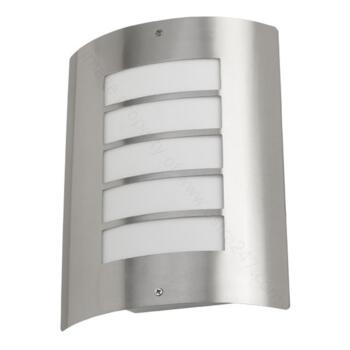 Stainless Steel Wall Light - IP44 with Louvres - Avon Non-PIR Wall Light