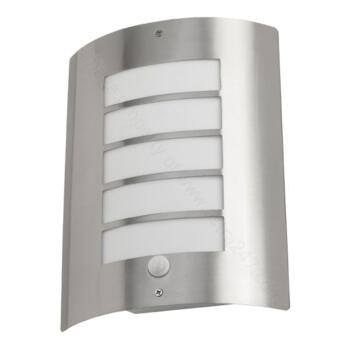 Stainless Steel PIR Wall Light - IP44 with Louvres - Avon PIR Wall Light