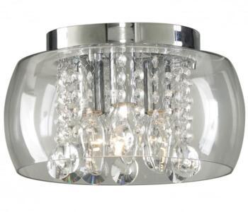 Curva Semi-Flush Ceiling Light - 3 Light 38803 - Chrome