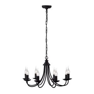 Tuscany Ceiling Light - 8 Light 6301-8BK - Black