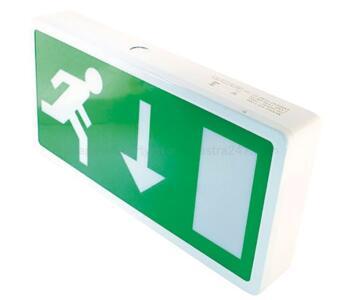 4W LED Exit Box Emergency Light - Exit Box Including Down Man Symbol