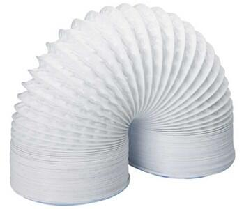 "4"" Flexible PVC Ducting - Round 100mm Diameter - 1m Length"