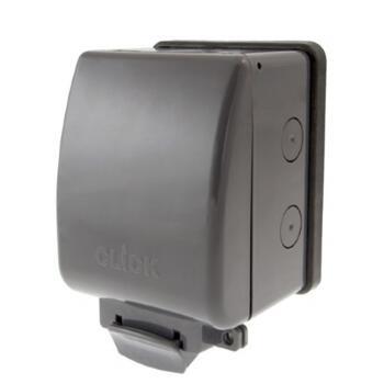 Outdoor Weatherproof Socket - Single IP66  - Click Aquip Single OA035AG