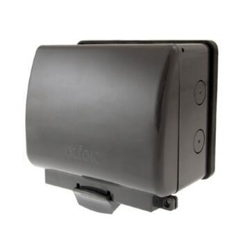 Outdoor Weatherproof Socket - Double IP66 - Click Aquip Dual / Twin OA036AG