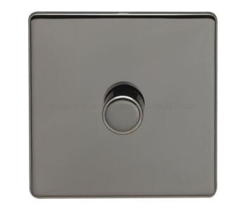 Screwless Black Nickel Dimmer Switches - 1 Gang 2 Way 400 Watt