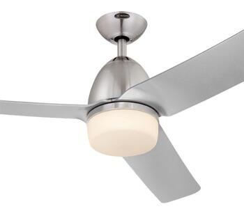 "Westinghouse Delancey Ceiling Fan with Light - 52"" Silver"