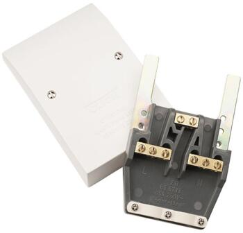 Polar 45A Dual Appliance Outlet Plate - Bright White
