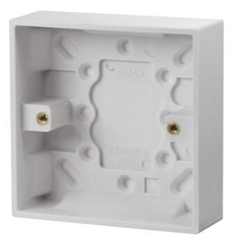 25mm Single Plastic Surface Backbox - Single Backbox