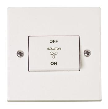 Polar Fan Isolator Switch - Bright White