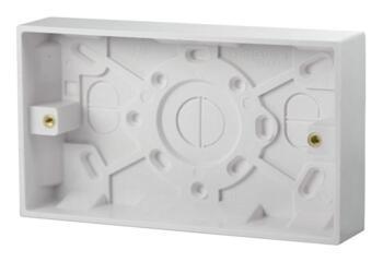 25mm Double Plastic Surface Backbox - Double Backbox