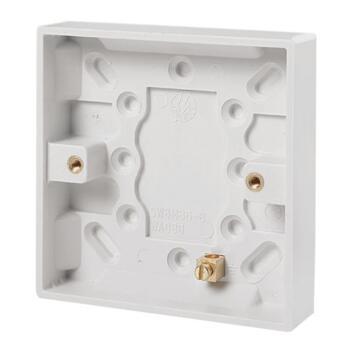 16mm Single Plastic Surface Backbox - Single Backbox