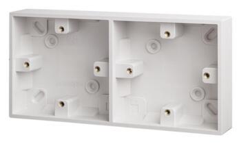 29mm Dual Accessory Plastic Surface Backbox - Dual Backbox