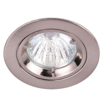 GU10 Die Cast Fixed Recessed Downlight - Brushed Nickel